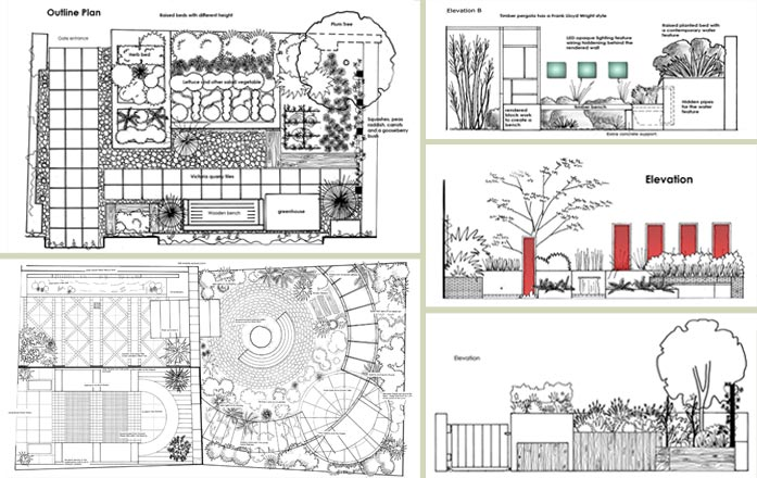 Garden design drawing plans pdf for Landscape plan drawing